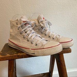 White Converse High Tops 6.5